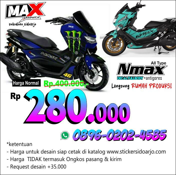 decal NMAX maxgraphica cutting sticker sidoarjo